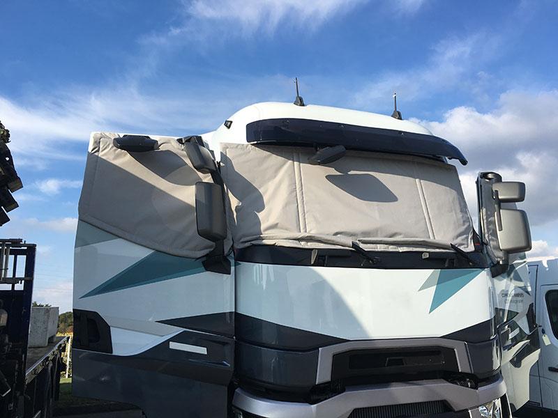 protection thermique pour camion portes ouvertes